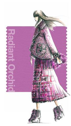 Tendencias de color Otono 2014 - Mujer TheGoldenStyle radiant Orchid