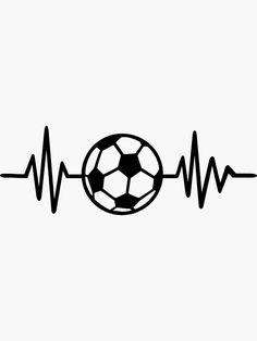 'Soccer frequency' Sticker by Designzz Soccer Tattoos, Football Tattoo, Football Art, Girls Soccer Cleats, Soccer Pro, Open Book Drawing, Football Logo Design, Soccer Drawing, Iphone Lockscreen Wallpaper