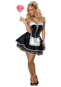 Women's Sexy Naughty French Maid Fancy Dress Uniform for Halloween French Maid Halloween, French Maid Costume, Halloween Fancy Dress, Halloween Kostüm, Halloween Costumes, Maid Costumes, Adult Costumes, Group Halloween, Greek Costumes