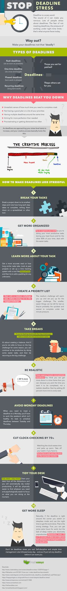 Stop Deadline Stress #Infographic #Stress