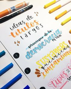 Brush Lettering an Inspirational Quote Bullet Journal Titles, Bullet Journal School, Hand Lettering Fonts, Lettering Tutorial, Writing Fonts, Stabilo Boss, Bild Tattoos, School Notebooks, Pretty Notes