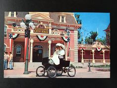 Vintage Main Street U.S.A. Postcard - Town Square - City Hall with Carriage by VintageDisneyana on Etsy