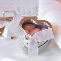Herzdose für Gastgeschenke aus Metall - Süße Verpackung für kleine Geschenke an ihre Gäste