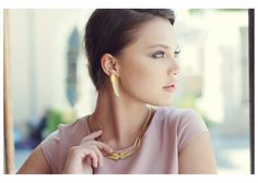 Gold Wings Necklace fairy Necklace Statement by YaelSteinberg, $56.00