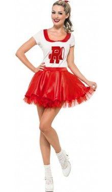 50er Retro Cheerleader Kostüm