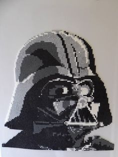 Darth Vader, in full glory. Melty Bead Patterns, Pearler Bead Patterns, Perler Patterns, Beading Patterns, Pixel Art Templates, Perler Bead Templates, Pixel Beads, Fuse Beads, Perler Bead Art