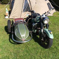 Moto Guzzi with sidecar