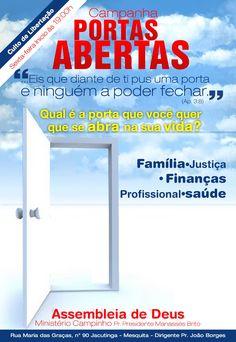 Flyer da Igreja Assembleia de Deus em Mesquita, Ministério Campinho