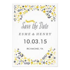 Ernte mit Blumen Save the Date Einladungskarten