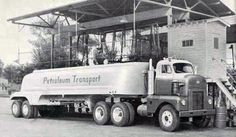 International Harvester Fuel Truck, similar to the Tootsey Toy of nthe early Big Rig Trucks, Cool Trucks, Pickup Trucks, Semi Trucks, Antique Trucks, Vintage Trucks, Fuel Truck, Tow Truck, Pompe A Essence