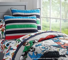 Justice League™ Quilted Bedding | Pottery Barn Kids