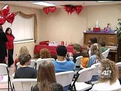 """A recent Valentine's Day party for the homeless children of Jessie's Place.  This party's theme was """"Jesus, the Greatest Love of All."""""""