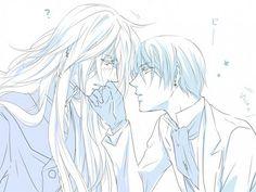 Kuro-Butler Vincent Phantomhive and Undertaker Me Anime, Anime Couples Manga, Cute Anime Couples, Anime Love, Manga Anime, Anime Art, Evil Anime, Manga Girl, Anime Girls