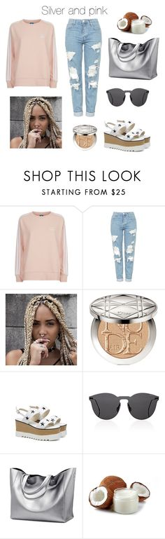 """S&P"" by manatee201 ❤ liked on Polyvore featuring adidas Originals, Topshop, Christian Dior and Illesteva"