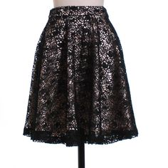 Black Lace Swing Skirt, love this!
