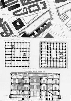 19TH CENTURY, Germany - Karl Friedrich Schinkel (1781-1841): Bauakademie, 1831-6 (dem.), Berlin