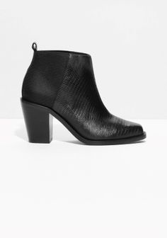 & Other Stories | Reptile Embossed Leather Boots