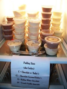 Pudding Shots....!  cant wait to make these - Click image to find more Weddings Pinterest pins