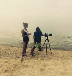 Work mode. Photoshoot@the beach with hot girls