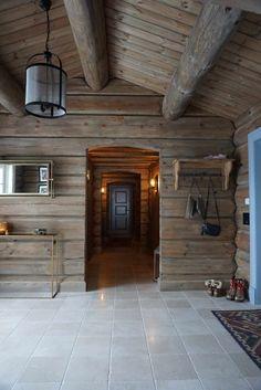 Hytte inspirasjon fra Nesbyen - Villa Von Krogh Stone Cottages, Cabins And Cottages, Log Cabins, Mountain Cottage, Mountain Homes, Mexico House, Turbulence Deco, Villa, Chalet Style