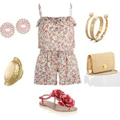 floral, created by sayancik on Polyvore