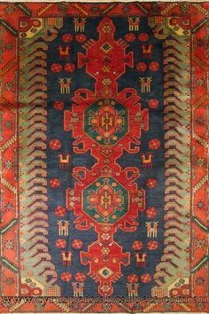 Hamadan Hand Knotted Oriental Wool Rug