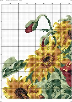 Fotos de la comunidad Cross Stitch Rose, Cross Stitch Flowers, Counted Cross Stitch Patterns, Cross Stitch Designs, Beaded Embroidery, Cross Stitch Embroidery, Cross Stitching, Flower Designs, Red Roses