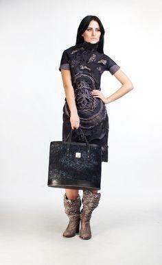big bag fashion handbag handmade felted bag DianaNagorna
