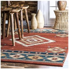 Find nuLOOM Margene Tribal Diamond Area Rug, x 5 , Red online. Shop the latest collection of nuLOOM Margene Tribal Diamond Area Rug, x 5 , Red from the popular stores - all in one Diamond Red, For Elise, Southwestern Decorating, Southwestern Home, Southwest Decor, Southwest Style, Area Rugs For Sale, Rugs Usa, Red Rugs
