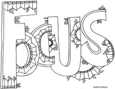 Focus Coloring Page