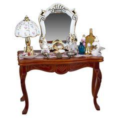 Aunt Mildred's Dresser by Reutter Porzellan Dollhouse Kits, Dollhouse Miniatures, Bedroom Furniture, Furniture Design, Mini Doll House, Wooden Desk, Miniature Furniture, Diy Arts And Crafts, Diy Doll