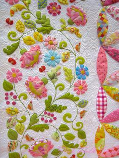 Good quilting around applique
