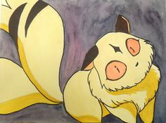 kirara watercolor cat - Portfolio - Kkoop Watercolor Cat, Inuyasha, Kitsch, Pikachu, Disney Characters, Fictional Characters, Draw, Cartoon, Friends
