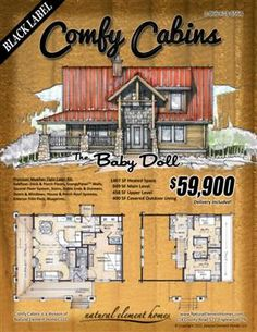This place builds cabins for you, but there are several floor plans and ideas. Will have to look at later.