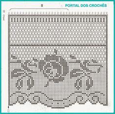 Crochet Diy, Crochet Lace Edging, Crochet Motifs, Crochet Borders, Crochet Doilies, Crochet Stitches, Crochet Home, Irish Crochet, Cortinas Crochet