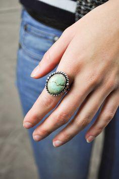 Navajo Turquoise Ring by Jondie.com
