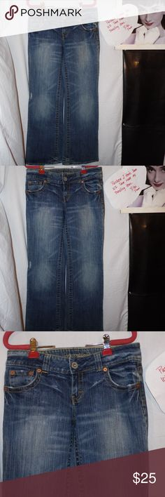 American Eagle Boyfriend Stretch Jeans size 10 reg American Eagle Boyfriend Stretch Jeans size 10 reg All Items are inspected and pictured before shipment in order to ensure top quality!! Bundle and Save!! Happy Poshing!!!  Brought to you by: Ari's Chic Dowri ;) American Eagle Outfitters Jeans Boyfriend