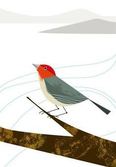 Winter Bird Inspired by Charlie Harper. http://syfungillustration.blogspot.com/2012/12/winter-bird-inspired-by-charlie-harper.html