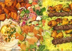 All my favourites on this Family Plate from the new @jerusalem_shawarma_ location in Royal Oak! So delish! #grandopening #openingday #welcometotheneighborhood #yycsbest #yyceats #yycfood #foodgram #foodpics #thefeedfeed #foodstagram #food52 #f52grams #instafood #instagood #kebab #shishtaouk #hummus #fatoush #latergram