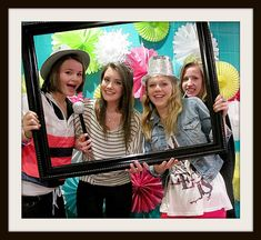 photo booth for a birthday party