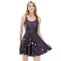 3D print Pacman Contra cheap clothes china ukraine autumn party plus size vintage harajuku sexy dress women vestido de festa