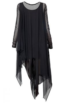 Samara Mesh Draping Dress BLACKBLESSED
