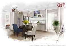 Интерьер светлой кухни. Идеи - http://www.ok-interiordesign.ru/ph17_kitchen_interior_design.php