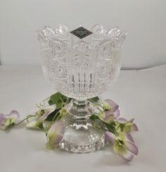 Shannon Lead Crystal Pedestal Bowl Candy Dish
