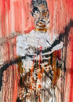 Michael Hafftka paints the portrait of Zebra Katz. Art Pieces, Sculptures, Palette, Pure Products, Portrait, Drawings, Artwork, Painting, Gardening