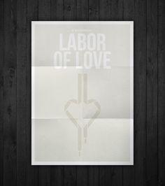 Semi-minimal movie poster of Labor Of Love by Rubenski Gooljar