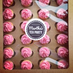 Pink Boxed cupcakes | Martha's Tea Party