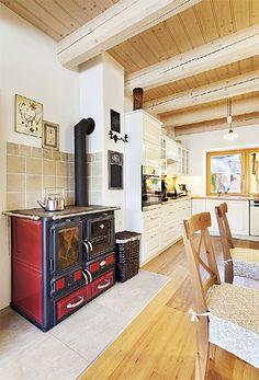 Chalupa z kotovic Grid Design, Stove, Home Appliances, Kitchen, House Ideas, Houses, Furniture, Decoration, Home Decor