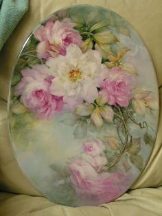 Antique Dishes, Antique Plates, Hand Painted Plates, Porcelain Ceramics, Painted Porcelain, Fine Porcelain, China Painting, Arte Floral, China Patterns