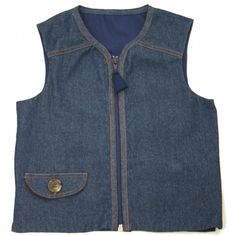 Signature Denim Weighted Vest - Weighted Vests for Children with Special Needs/Proprioceptive Therapy for SPD